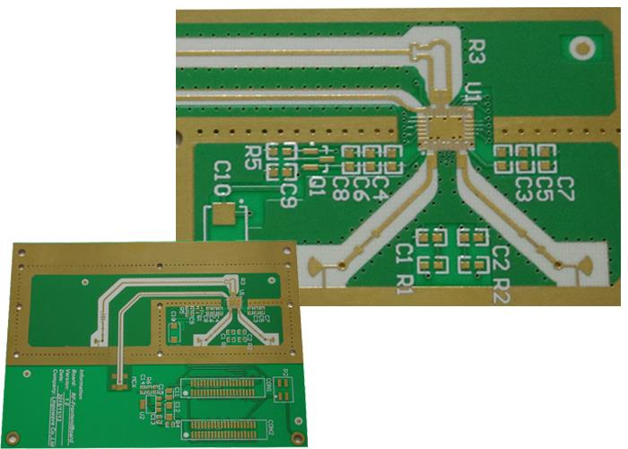 High frequency (HF) circuit printed board